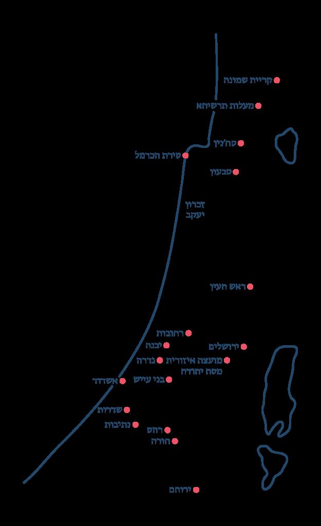 מפת שחרית בישראל